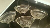 two round clear cut glass bowls Calgary, T3J 2T2
