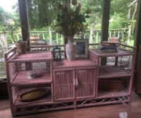 Pink n' Pretty Rustic Wicker Buffet Table Newport News