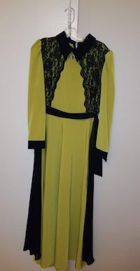 women's yellow and black long-sleeved dress Vaughan, L4H 0J9
