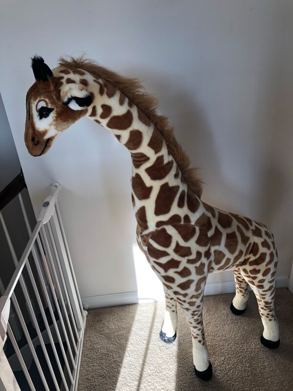Kids giraffe. 4+ft tall and perfect for nursery decor or playroom.