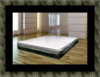 Singlesided pillowtop mattress with box spring Fairfax