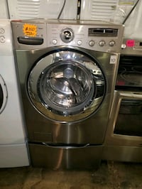 LG front load Washer with pedestals working perfectly four months warr Baltimore, 21223