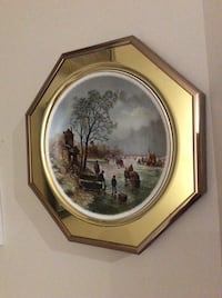 Antique vintage plate wall decor of an old painting  New Tecumseth, L9R 2A9
