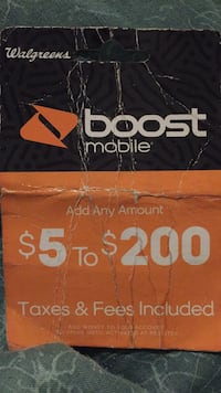 BOOST MOBILE       $60 RE-BOOST CARD Riverview, 33579