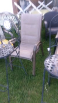 Two  high  back chairs 15e