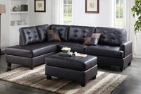 Espresso reversible sectional with ottoman San Diego, 92145