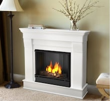 Chateau White Gel Fuel Fireplace. GREAT condition.