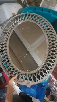 oval white and blue wooden framed mirror Ajax, L1T 3W7