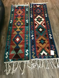 200$ Colourful hand knotted kilim Rug 536 km