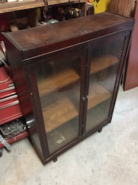 brown wooden framed glass cabinet Laval, H7T