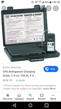 Cps refrigerant scale  Newport News, 23606