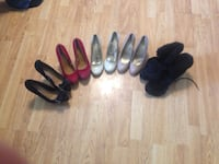 four pairs of black leather shoes Camrose, T4V 2P5