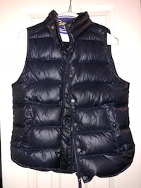 black leather zip-up bubble vest Arlington, 22201