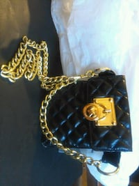 black and yellow leather handbag Vancouver, V6A 1T6