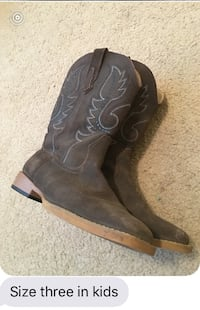 Pair of brown leather cowboy boots South San Francisco, 94080