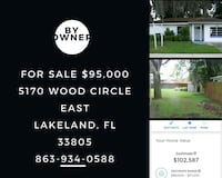 HOUSE For Sale 3BR Lakeland, 33805