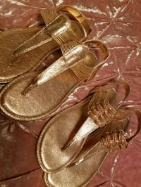 Rose gold flats size 9