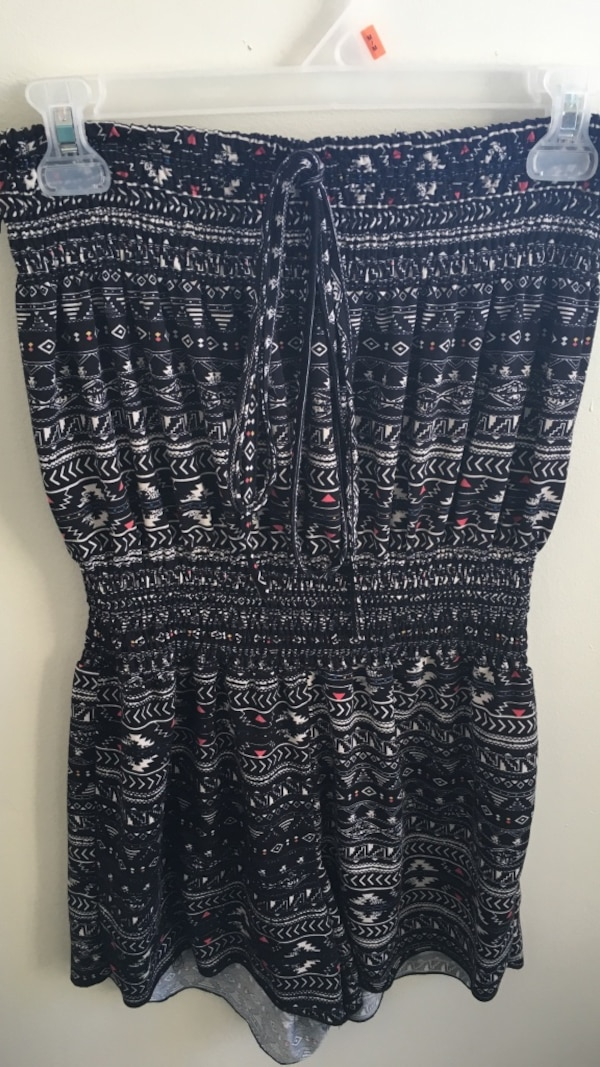 e8faef1d781 Used Black and white tribal print strapless romper for sale in St. Marys -  letgo