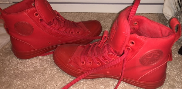 8a8e5ba1275d Used Red Converse All Star Sneakers Size 6 in Women s for sale in ...