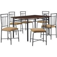 Mainstays 7-Piece Dining Set, Wood and Metal Houston, 77077