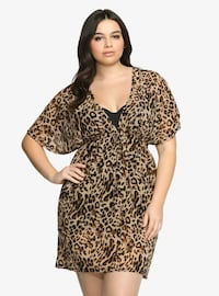 Plus Size Torrid Leopard Swim Cover Up, Sz. 2 Aldie, 20105