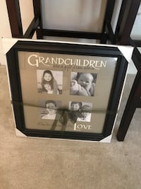 Grandchildren solid wood photo frame.  Sterling, 20164