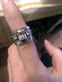 Silver ladies ring made in Israel size 7