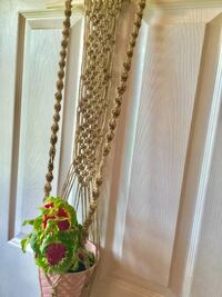 Jute plant hanger/indoor decor/ wall decor