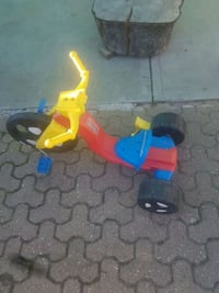 toddler's yellow and blue trike Calgary, T2E 5Z9