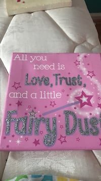 pink glittered quote board 17 mi