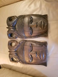 HAND CRAFTED WOOD FACES