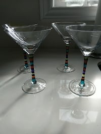 Stokes Martini glasses  Vaughan, L6A 4G5