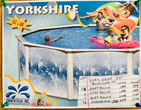 Above Ground Yorkshire swimming pool blowout sale $ [TL_HIDDEN] New!!