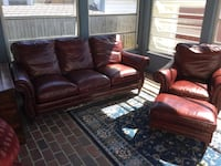 Leather couch and chair + ottoman  Virginia Beach, 23462