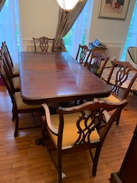 8 chair dinning room table set