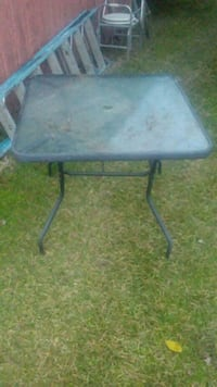 black metal framed gray metal table Valdosta, 31601