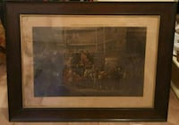 """Coaching Recollections engraving by J Harris October 1846. 39""""×30""""  Queens, 11106"""