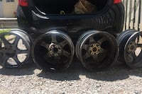 4 tire rims, 5 bolt pattern Size 17