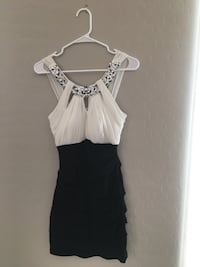 $25 Black and white body con dress