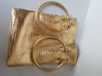 gold drawstring pouch New York, 11233