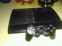 black Sony PS3 super slim console with controller Buffalo, 14220
