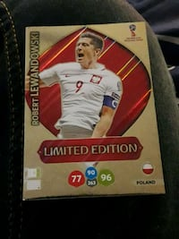 Robert Lewandowski carte à collectionner