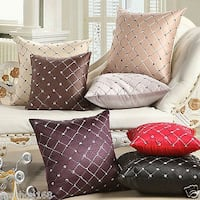 (3)New SILVER Handmade Throw Decor Couch Sofa Bed pillows Set of 3