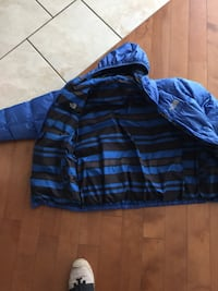 Blue and black plaid jacket Laval