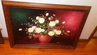 white and red petaled flowers painting Caseyville, 62232