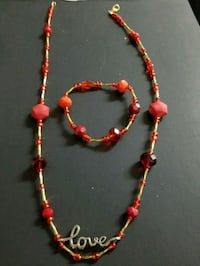 red and black beaded necklace Anaheim, 92801