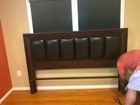 Must go Friday 9/7/18 Shermag upholstered bed Fort Washington
