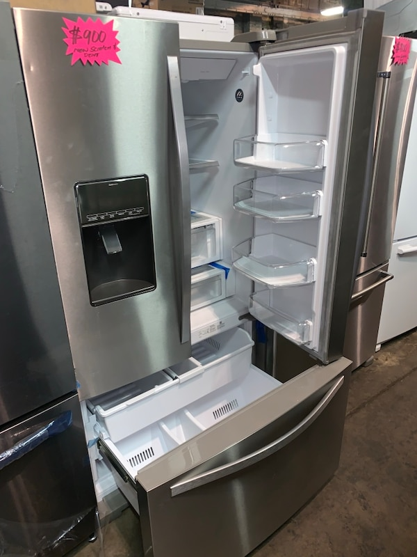 "New Whirlpool scratch & dent 36"" french doors fridge with 6 months warranty"