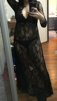 Black sheer lace dress. Size XXL fits like a L. Brand new in packaging   535 km
