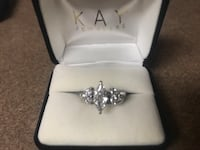 2 ct total wt white gold GIA certified diamond engagement and enhancer rings Smyrna, 37167